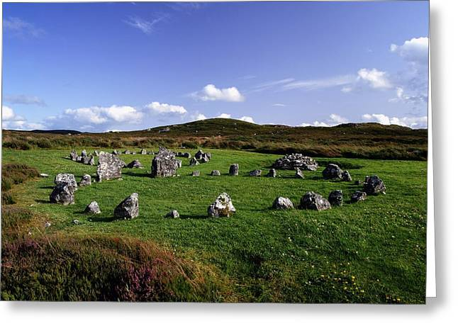 Archaeology Archeological Greeting Cards - Beaghmore Stone Circles, Co. Tyrone Greeting Card by The Irish Image Collection