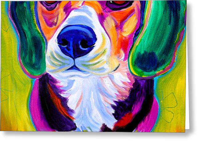 Beagle - Molly Greeting Card by Alicia VanNoy Call