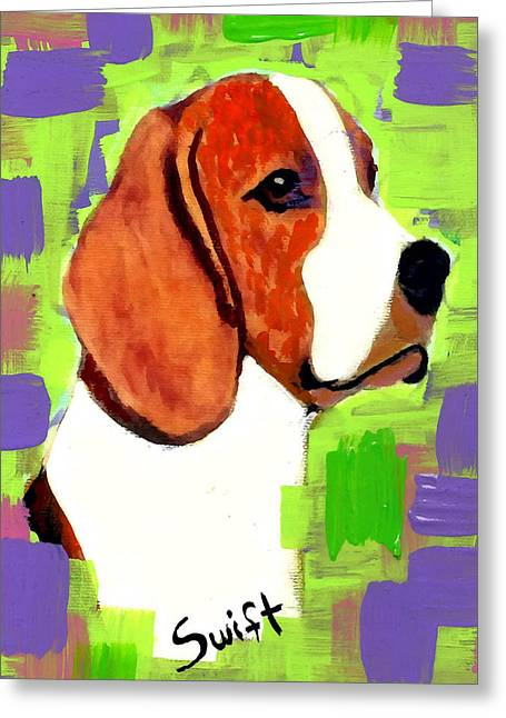 Beagle Greeting Card by Char Swift