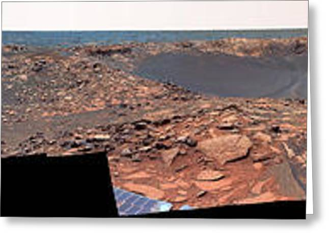 Victoria Crater Greeting Cards - Beagle Crater, Mars Greeting Card by Nasa