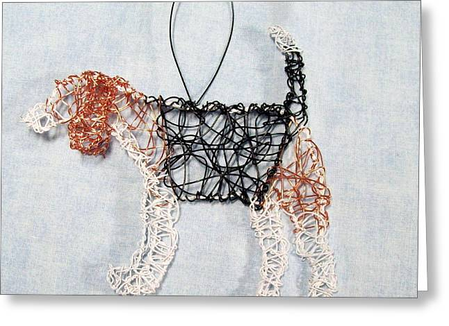 Dog Sculptures Greeting Cards - Beagle ornament Greeting Card by Charlene White