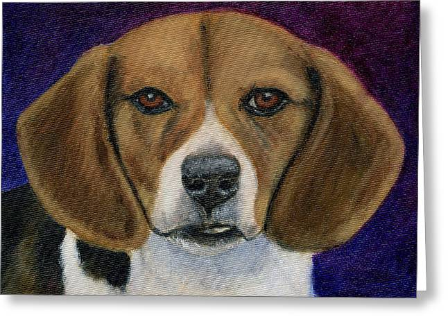 Beagle Puppies Print Greeting Cards - Beagle Puppy Greeting Card by Michelle Wrighton