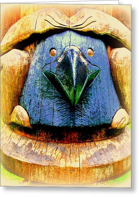 Woodcarving Greeting Cards - Beak Greeting Card by Randall Weidner