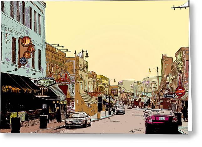 Beale Street Greeting Card by Barry Jones