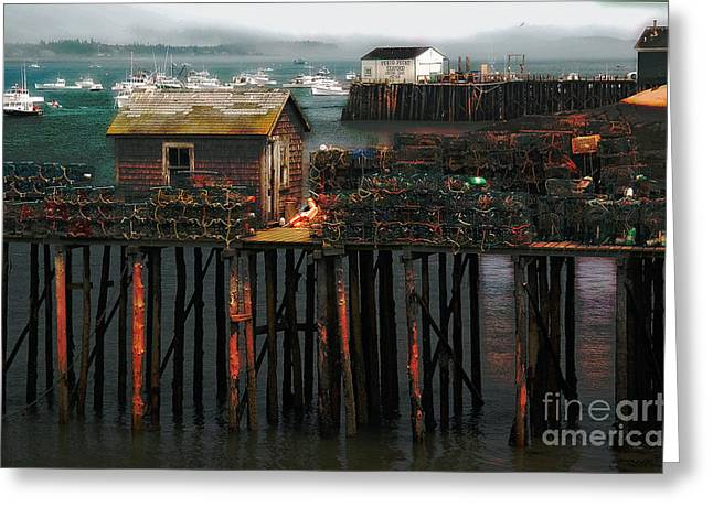 Lobster Shack Greeting Cards - Beals Island Greeting Card by Alana Ranney