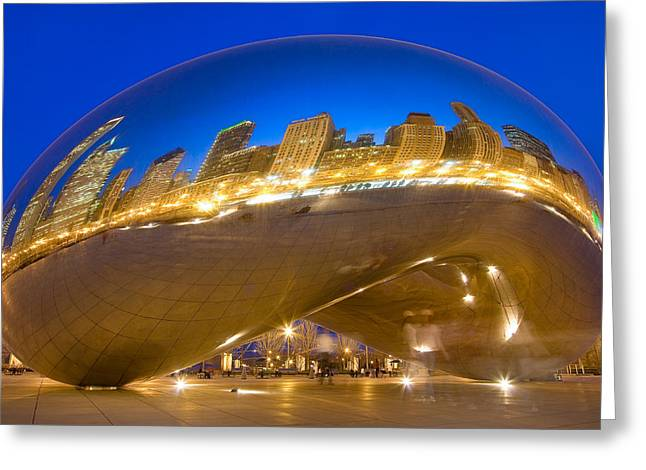 Donald Greeting Cards - Bean Reflections Greeting Card by Donald Schwartz