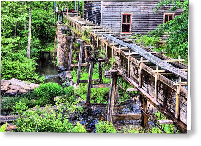 Bean's Sawmill Greeting Card by JC Findley