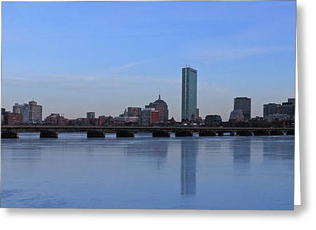 Skyline Photos Greeting Cards - Beantown on Ice Greeting Card by Juergen Roth