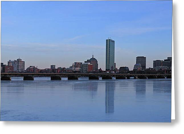Prudential Center Greeting Cards - Beantown on Ice Greeting Card by Juergen Roth