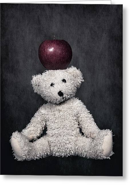 Bear And Apple Greeting Card by Joana Kruse