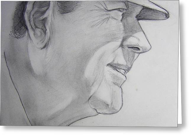 Bear Bryant Greeting Card by Nigel Wynter
