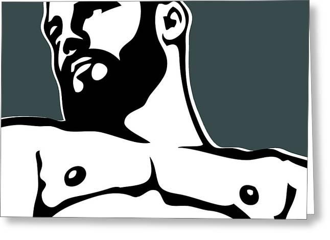 Gay Digital Art Greeting Cards - Bear Greeting Card by Chris  Lopez