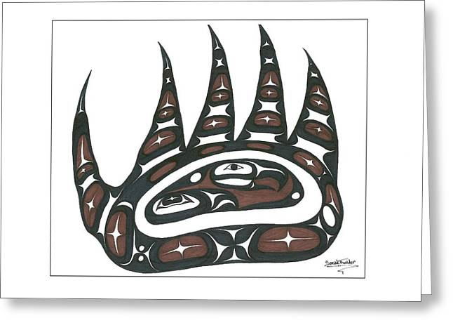 Speakthunder Berry Greeting Cards - Bear Claw Brown Greeting Card by Speakthunder Berry