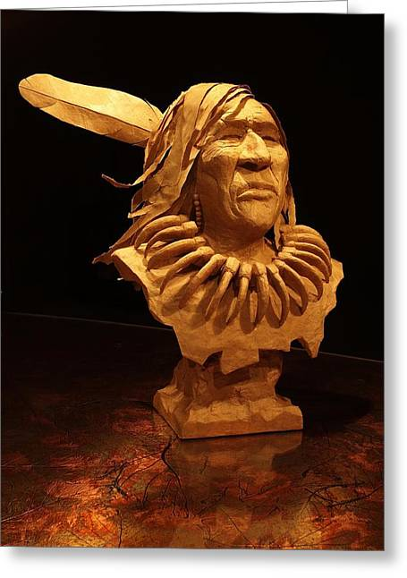 Feathers Sculptures Greeting Cards - Bear Claw Greeting Card by Monte Burzynski