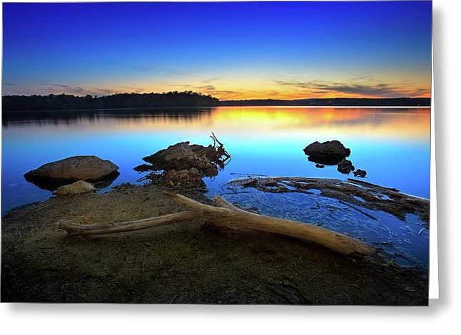 Tennessee River Greeting Cards - Bear Creek Sunset Greeting Card by Steven Llorca