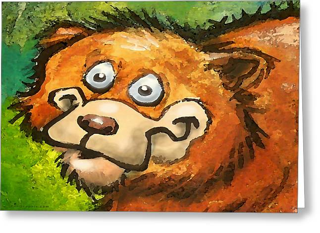 Bear Greeting Card by Kevin Middleton