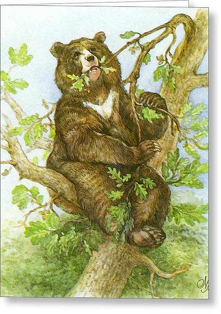 Special Moment Greeting Cards - Bear Greeting Card by Natalie Berman