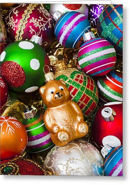 Bear Ornament Greeting Card by Garry Gay