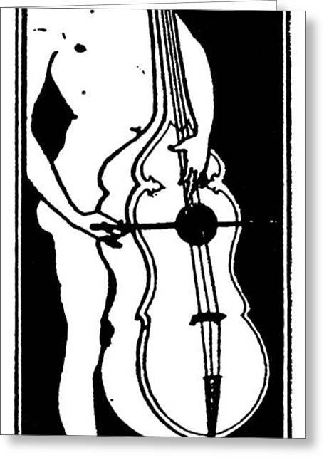 Titlepage Greeting Cards - Beardsley:  Musician Greeting Card by Granger