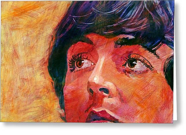 Beatle Paul Greeting Card by David Lloyd Glover