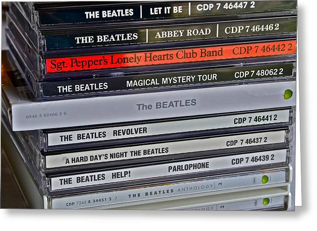 Music Cds Greeting Cards - Beatles Greeting Card by Bill Owen