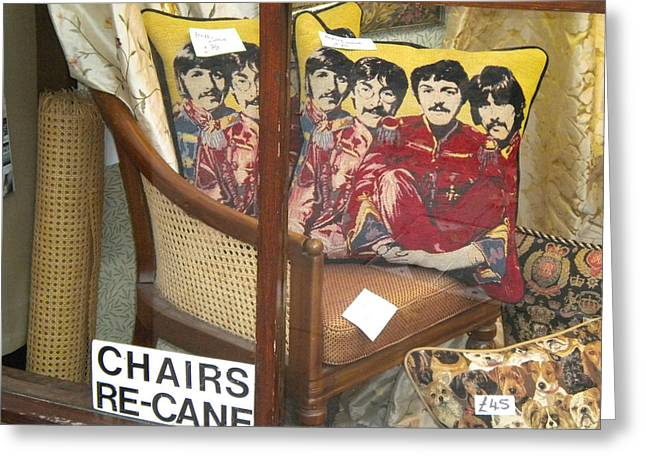 Fabulous Four Greeting Cards - Beatles Pillow Greeting Card by Todd Breitling