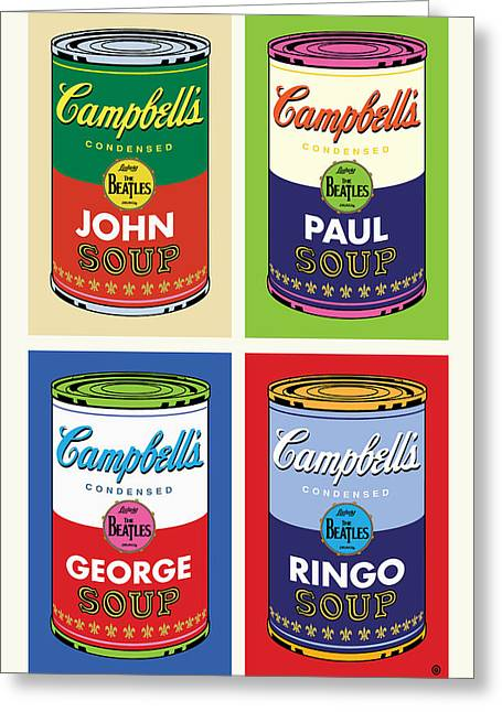 Recently Sold -  - Layer Greeting Cards - Beatles Soup Greeting Card by Gary Grayson