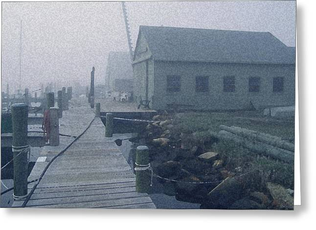 Docked Boat Mixed Media Greeting Cards - Beaton Greeting Card by Paul Barlo