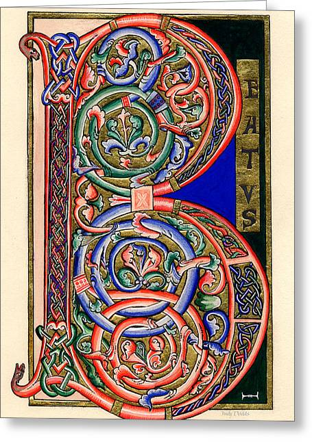 Conviction Greeting Cards - Beatus Greeting Card by Judy Dodds