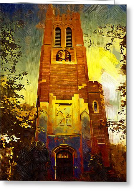 Michigan State Greeting Cards - Beaumont tower  Greeting Card by Paul Bartoszek