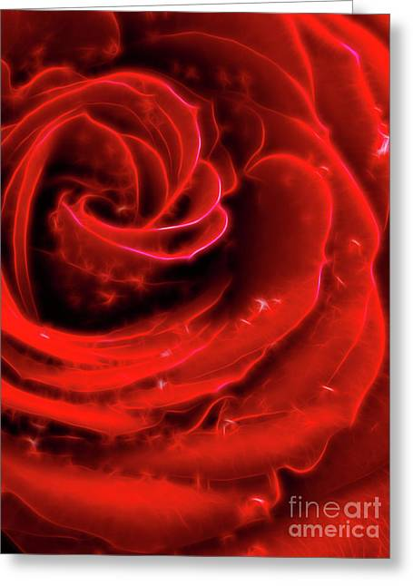 Abstract Digital Photographs Greeting Cards - Beautiful Abstract Red Rose Greeting Card by Oleksiy Maksymenko