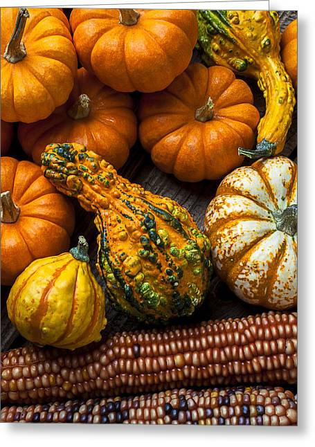 Gourds Greeting Cards - Beautiful autumn Greeting Card by Garry Gay