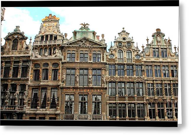 Beautiful Belgian Buildings - Digital Art Greeting Card by Carol Groenen
