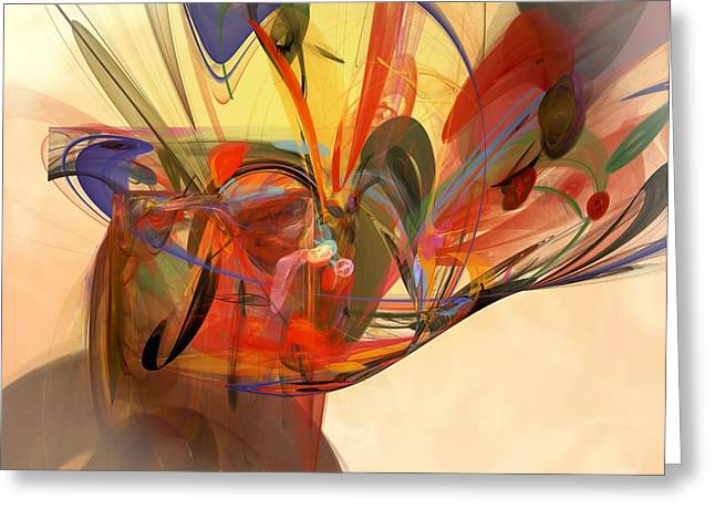 Purple Abstract Greeting Cards - Beautiful Chaos Greeting Card by Christy Leigh