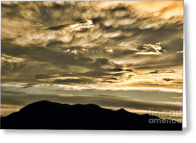 Rugged Mountains Greeting Cards - Beautiful Cloudscape Greeting Card by HD Connelly