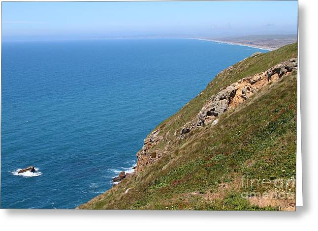 Beautiful Coastline Of Point Reyes California . 7d16017 Greeting Card by Wingsdomain Art and Photography