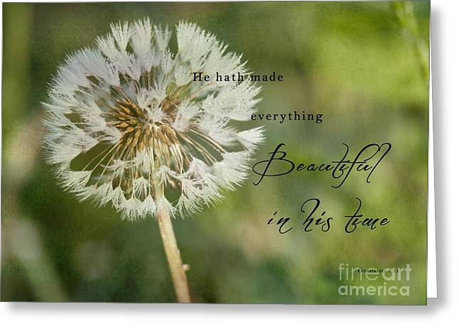 Inspiration Greeting Cards - Beautiful Dandelion Greeting Card by Pam  Holdsworth