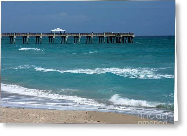 Beautiful Day At The Beach Greeting Card by Sabrina L Ryan