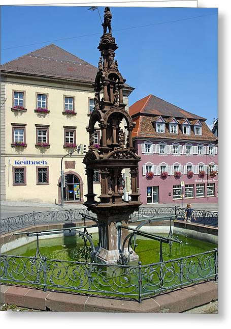 Beautiful Fountain Rottweil Germany Greeting Card by Matthias Hauser