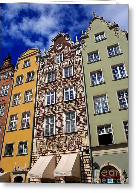 Beautiful Gdansk Greeting Card by Sophie Vigneault