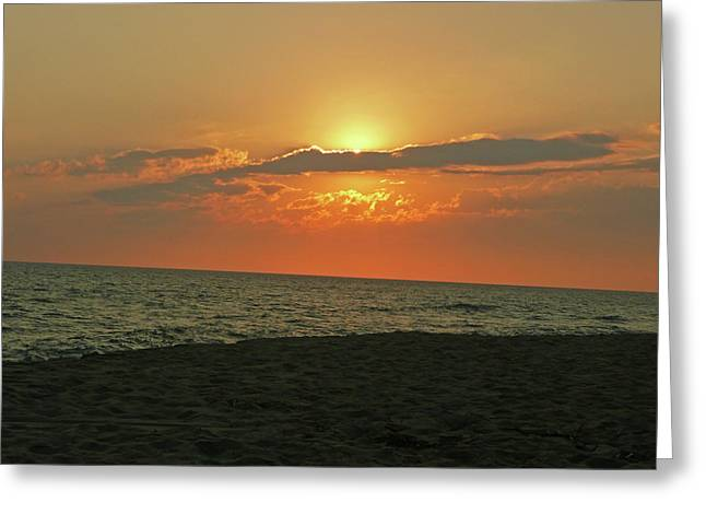 Becky Lodes Greeting Cards - Beautiful Madaket Sunset Greeting Card by Becky Lodes