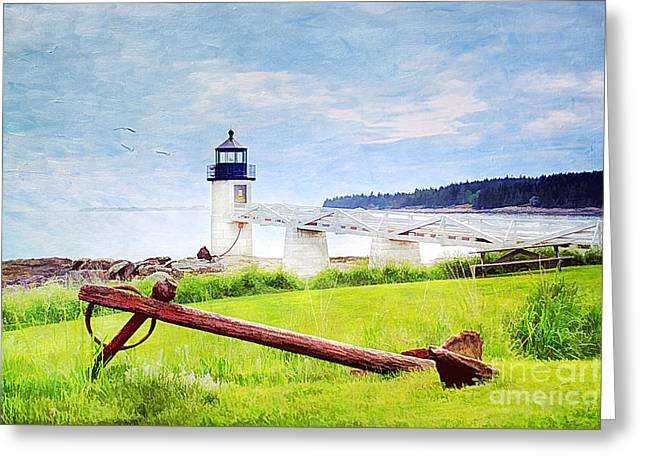 Maine Spring Greeting Cards - Beautiful Maine Greeting Card by Darren Fisher