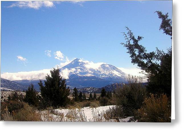 Siskiyou County Greeting Cards - Beautiful Mount Shasta Greeting Card by Cindy Wright