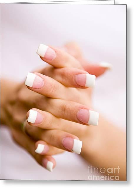 Finger Nails Greeting Cards - Beautiful nails Greeting Card by Kati Molin