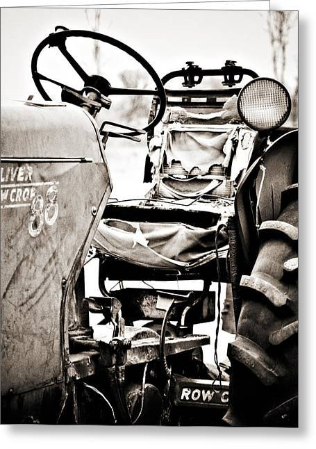 Wheels Greeting Cards - Beautiful Oliver Row Crop old tractor Greeting Card by Marilyn Hunt