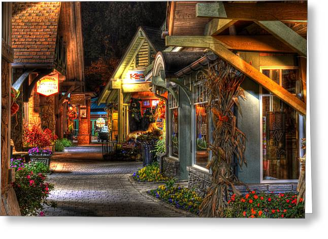 Gatlinburg Tennessee Greeting Cards - Beautiful Shopping Greeting Card by Greg and Chrystal Mimbs