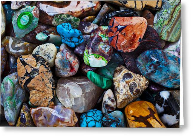 Beautiful Stones Greeting Card by Garry Gay