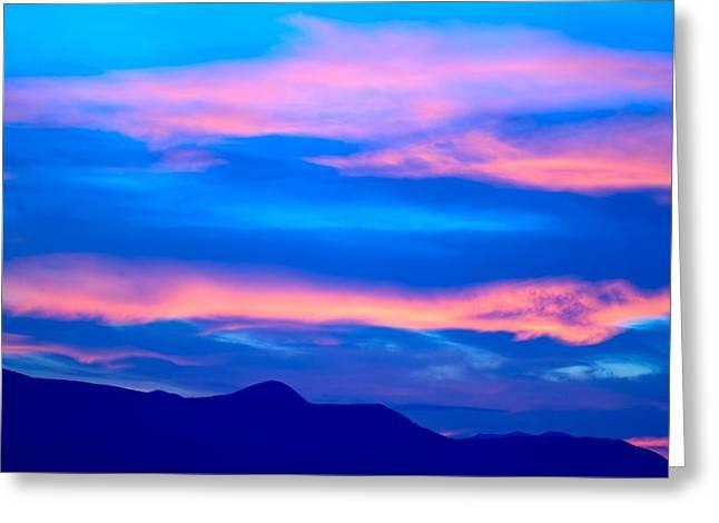 Peaceful Scenery Greeting Cards - Beautiful Sunset Greeting Card by Raven Regan