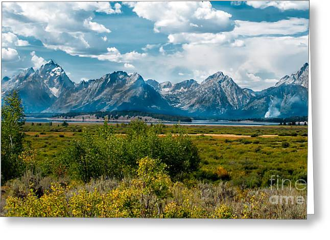 Outlook Greeting Cards - Beautiful Tetons Greeting Card by Robert Bales