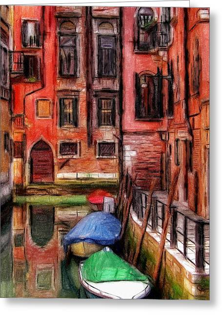 Reflections Pastels Greeting Cards - Beautiful Venice Greeting Card by Stefan Kuhn